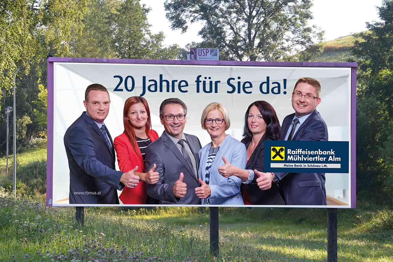 Raiffeisenbank Großplakat