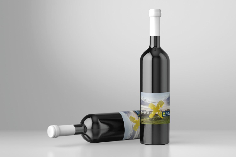 Raiffeisenbank Weinflaschen