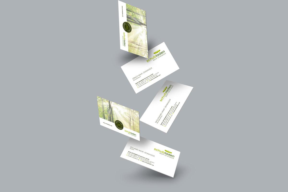 Schubladen Visitenkarten
