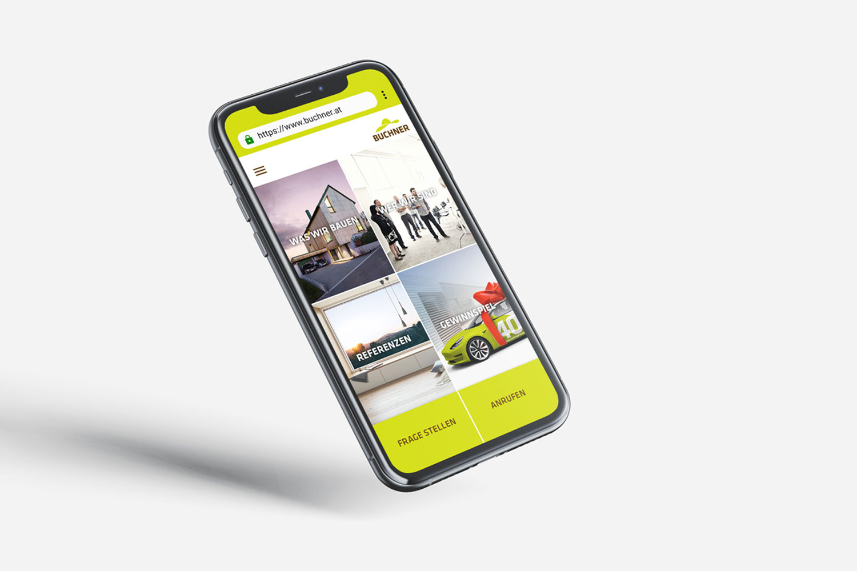 Buchner Mobile Webseite