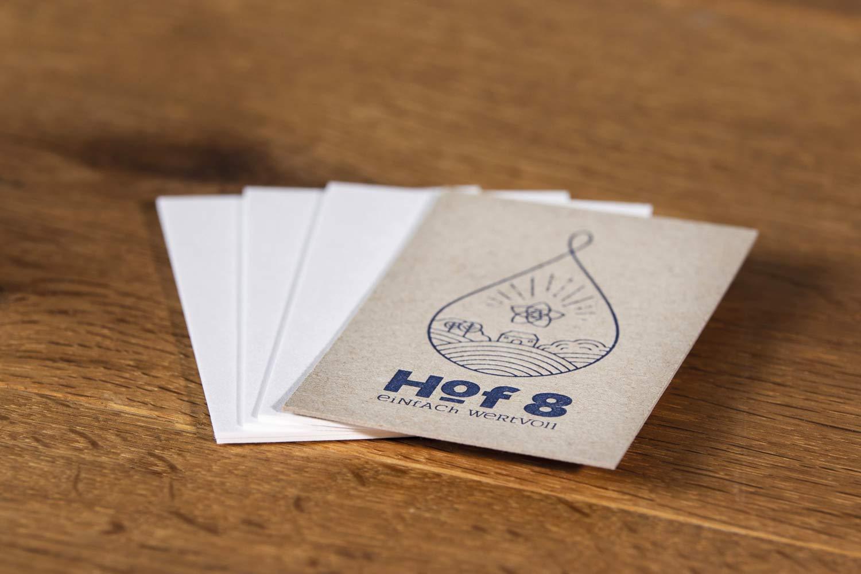 Hof8 Visitenkarten