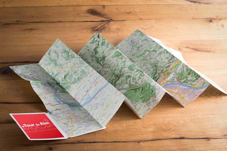 Tour de Alm Landkarte