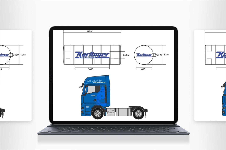Karlinger Transporte LKW Design