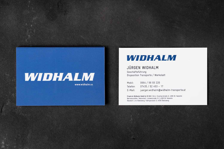 Widhalm Visitenkarte