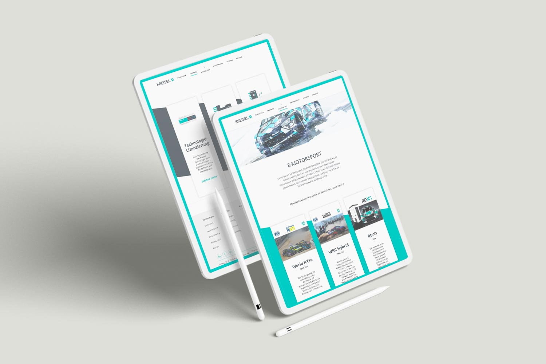 Kreisel Webseite iPad Ansicht